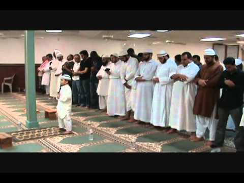 Boy leading Salah