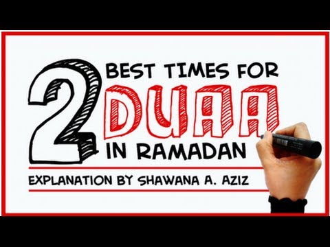 2 Best Times For Dua In Ramadan