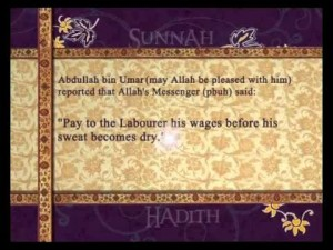 Paying wages – Pearls of Prophet Muhammad (Peace be upon him).