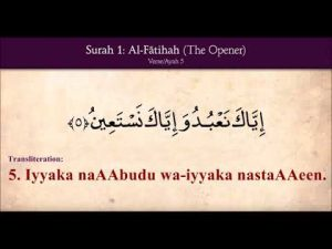 Learn Complete Al Fatiha with Transliteration. (The Opening).