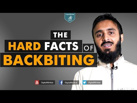 The hard facts of Backbiting – Abu Abdissalam